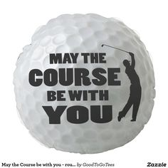 May the Course be with you - round golf pillow Round Pillow