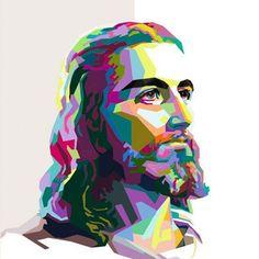Jesus in wpap #popart #art #design #wpap  For inquiries please email: dweeimoetbanget@yahoo.com