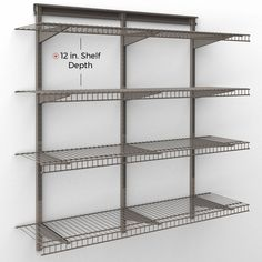 Shelftrack 48 H X 48 W Add On Unit Wire Shelving Closetmaid Shelves