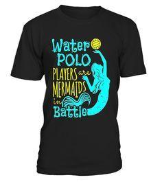3eb8abb59 Water Polo Design Girls T-Shirt Gifts Mermaids… Polo Design, Polo Shirt