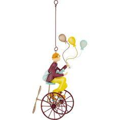 Mobile Triplé ballons roues pourpres - L'oiseau bateau