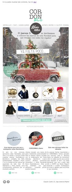 Newsletter de la tienda multimarca CORDON&Co