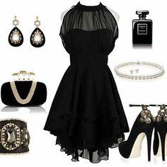Cheap Wholesale Stunning Solid Color Beam Waist Irregular Hem Chiffon Women's Dress (BLACK,ONE SIZE) At Price 16.38 - DressLily.com