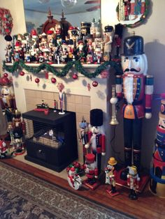 My future goal: too have this many nutcrackers& more, so I can decorate a room of nutcrakers-like this person did in the picture :) !!!!!