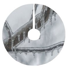 Icy Branch Brushed Polyester Tree Skirt