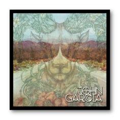 Cuadro con marco negro de aluminio para disco de vinilo / Ejemplo: John Garcia - Solo Album / #JohnGarcia