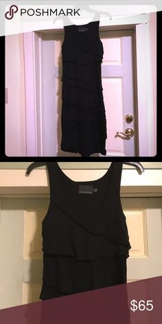 """Cynthia Rowley black jersey dress This is chic and stylish ready for the beach , dress me up with pearls and dazzle me with your favorite jewelry. Size medium. Total length 39"""" Cynthia Rowley Dresses Midi"""