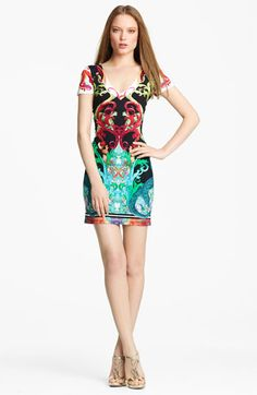Roberto Cavalli Jasper Print Dress available at #Nordstrom    Sigh.  To own a Cavalli...