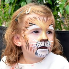 Face painting lion - ideas for a lion face for children and adults - lion make . Face painting lion - ideas for a lion face for children and adults - lion make up face girl forehead Make Up Gesicht, Tattoo Prices, The Face, Head Tattoos, Halloween Makeup, Halloween Kids, Diy For Kids, Face Makeup, Lion Makeup