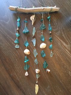 A personal favorite from my Etsy shop https://www.etsy.com/listing/252256422/sea-glass-mobile-wind-chime