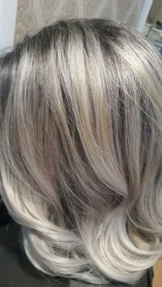 Gray blonde hair color