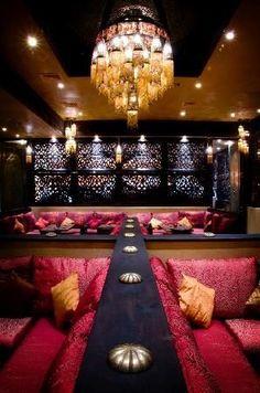 hookah lounge design ideas nice with the velvet seats