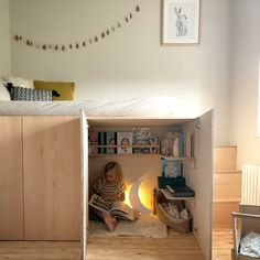 Kids Room Furniture, Plywood Furniture, Built In Bed, Building For Kids, Kid Spaces, Kid Beds, Platform Bed, Kids Bedroom, Baby Room
