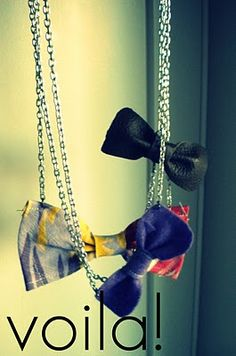 DIY: Bow necklace