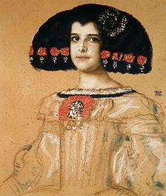 Franz von Stuck (1863-1928), Mary, the artist's daughter, c. 1885