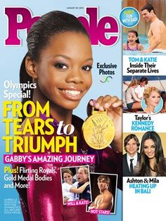 GOLD MEDALIST GABBY DOUGLAS  will likely make a lot of money for the publication, considering she is the single most popular athlete in this year's Olympics. NBC says the gymnastics gold medalist is the most clicked-upon athlete on its Olympics website. Through Sunday, her profile on the site had more than 18 million page views-far above 2nd-ranked athlete Michael Phelps, whose profile had 7 million page views. Gabby has more endorsements in store for her after leaving the 2012 London…