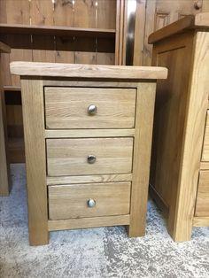 3 Drawer Rustic Oak Bedside Www Cobwebsfurniture Co Uk Painting Cabinets
