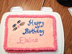 Cat eyes birthday cake