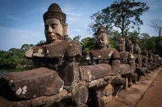 Gods at work on a bridge Delena, Angkor, Mount Rushmore, Buddha, Statue, Mountains, Bridge, Pictures, Travel