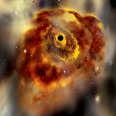 Black Hole -- Located in the heart of a quasar called OJ287, it's at a distance of 3.5 billion light years .