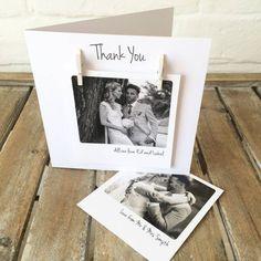 Personalised Polaroid Photo Wedding Anniversary Card