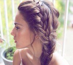 Side braid @Teresa Selberg Simmons  #WantThatHair