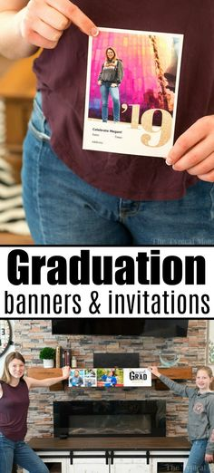 Personalized graduation banner ideas are here for your High School student, or college grad! Great for parties with photos and text you create yourself. Graduation Banner, Graduation Party Decor, Graduation Ideas, Creative Homemade Gifts, Party Invitations, Grad Invites, Banner Ideas, Party Themes, Party Ideas