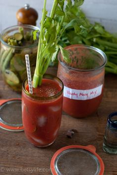 Brunch anyone? Make Your Own Bloody Mary Mix | Betsylife.com