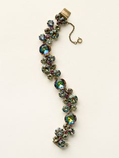 Circular Crystal Cluster Line Bracelet in Volcano by Sorrelli - $175.00 (http://www.sorrelli.com/products/BCW10AGVO)