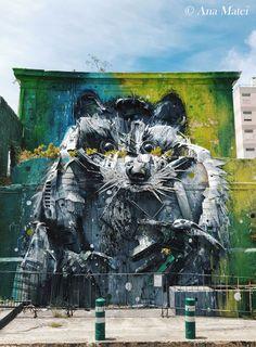 Raccoon-by-Bordalo-II---pic-by-Ana-Matei  #streetart #lisboa #lisbon #portugal #travel