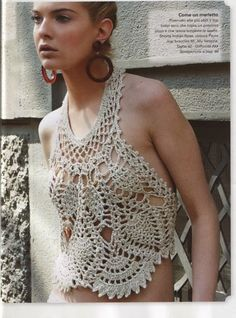 confidenziale: Frente Única em Crochê crochet tank top (you have to wear something underneath!)