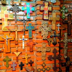 Mexican cross composition. Check out that turquoise one in the middle www.casitassayulita.com
