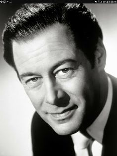 """Sir Reginald Carey """"Rex"""" Harrison - 1908 - British stage and Film actor. Hollywood Actor, Hollywood Stars, Classic Hollywood, Old Hollywood, Hollywood Glamour, New York City, Black And White Stars, Actor Headshots, English Movies"""