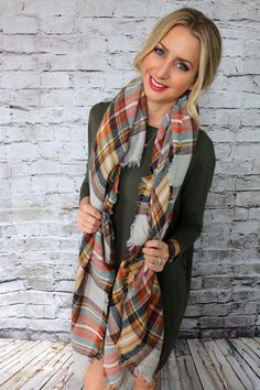 Rouge Scarf at Unhinged Boutique. Order www.unhingedboutique.com. @unhingedboutik. Plaid scarf