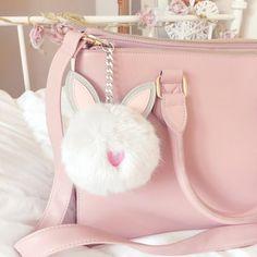 Fluffy Bunny Rabbit Pom Pom Keyring | Asos www.lovecatherine.co.uk www.instagram.com/catherine.mw