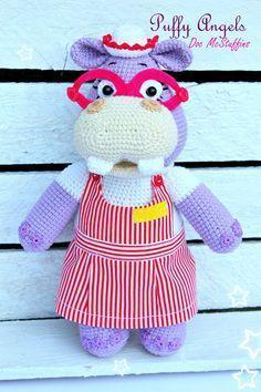 Doktor McStuffins hallie,Amigurumi,amigurumi free pattern,amigurumi pattern,amiguumi patrones,amigrumi design,örgü oyuncak,crochet toys,handmade toys pattern, hippo pattern doktor dottie amigurumi