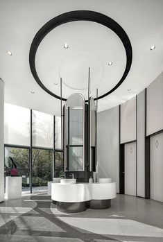 Ceiling Lights, Interior Design, Mirror, Lighting, Public Restrooms, Furniture, Hospitality, Home Decor, Toilet