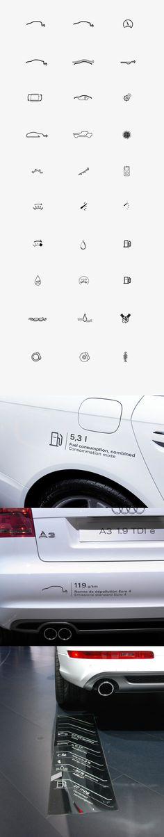 Audi Iconset by Malte Schweers, via Behance