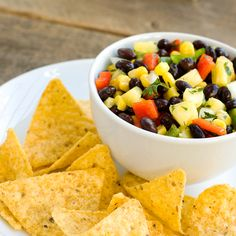 Black Bean & Mango Salsa: Dip your chip into something a little more tropical and refreshing.