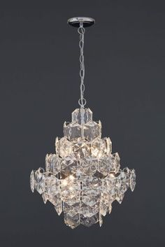 Buy Charleston 6 Light Chrome And Clear Chandelier from the Next UK online shop