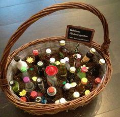 Geburtstagsgeschenk - Kräutergarten mit Shotfläschchen