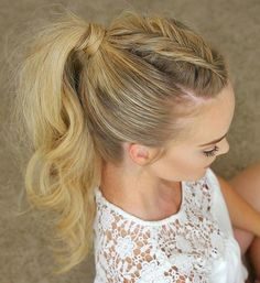 long+tousled+braided+ponytail