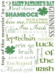 St Patricks Day printable - I am obsessed with printables for my house!
