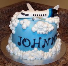 Image detail for -Private jet airplane birthday cake.JPG