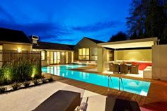 zero entry backyard lap pool