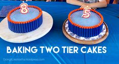 Easy Tutorial for making two tiered cakes. Frosting Recipes, Buttercream Frosting, Dessert Recipes, Desserts, Box Cake Mix, Cake Mixes, Nerf Cake, Two Tier Cake, Nerf Party