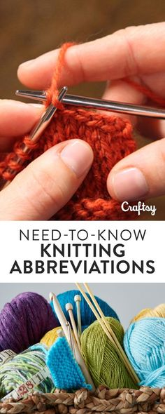 Never get stumped by a weird abbreviation again! Need-to-Know Knitting Abbreviations is a handy one-page resource you can print out and leave on your crafting table for quick help anytime. It's a great reference for beginners and beyond. Download it for f