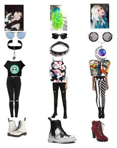 """""""Untitled #47"""" by akwardpotato on Polyvore featuring Tripp, Topshop, WearAll, Yohji Yamamoto, Illesteva, Dr. Martens, Nine West, WithChic, Child Of Wild and women's clothing"""
