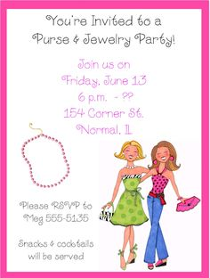 Ladies Kitty Party Invitation Cards Ideas Designs Venues