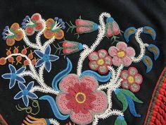 Ojibwa Floral Beadwork | valentina o 40 weeks ago ojibway beaded pad saddle blanket fresh from ...